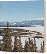 Bove Island On Windy Arm In Tagish Lake Yukon Wood Print