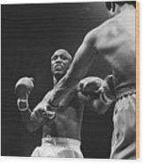 Boxers Joe Frazier And George Foreman Wood Print