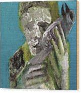 Boy Holding A Bird Wood Print