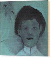 Boy With A Bird Wood Print