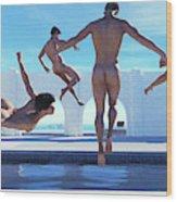 Boys Of Summer Pool Wood Print