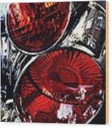 Brake Light 13 Wood Print