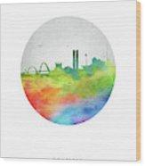 Brasilia Skyline Cityscape Brbr20 Wood Print