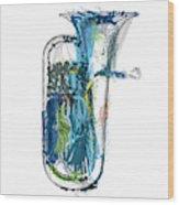 Brass Euphonium 4 Wood Print