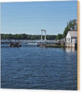 Brass Point Bridge On The Rideau Canal Ontario Wood Print
