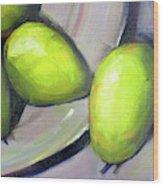 Breakfast Pears Wood Print