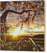 Breaking Sunset Wood Print