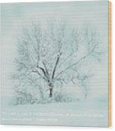 Breath Of Winter Wood Print