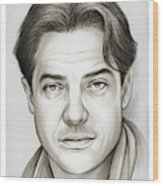 Brendan Fraser Wood Print