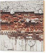 Brick Wall Falling Apart Wood Print