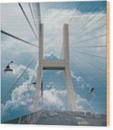 Bridge In The Clouds Wood Print