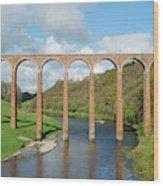 bridge over river Tweed near Melrose towards Gattonside Wood Print