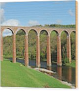 bridge over river Tweed near Melrose Wood Print