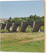 bridge over river Tyne at Corbridge in summer Wood Print