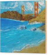 Bridge Over The Bay Wood Print