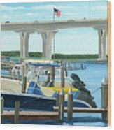 Bridge To Summer II Wood Print