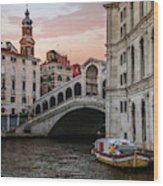 Bridges Of Venice - Rialto Wood Print