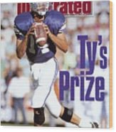 Brigham Young University Qb Ty Detmer Sports Illustrated Cover Wood Print