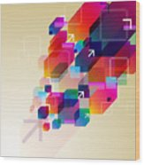 Bright Abstract Background Wood Print