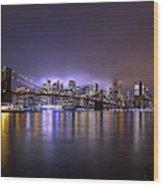Bright Lights Of New York II Wood Print