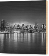 Bright Lights Of New York Wood Print