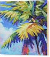 Bright Palm Square Wood Print