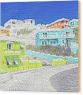 Bright Parish Life Bermuda Wood Print