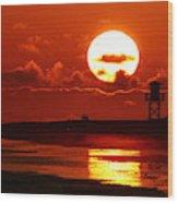 Bright Rota, Spain Sunset Wood Print