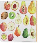 Bright Vector Watercolor Hand Drawn Wood Print