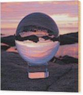 Brighton Beach Reflections Wood Print