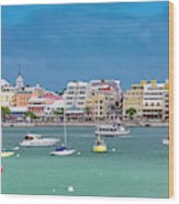Brilliant Bermuda  Cityscape Wood Print
