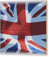 British Union Jack Flag T-shirt Wood Print