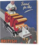 British Vacuum Cleaner Vintage Advert 1910 Wood Print