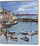 Brixham Harbour Wood Print