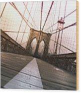 Brooklyn Bridge, New York City Wood Print