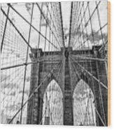 Brooklyn Bridge, New York, Usa Wood Print