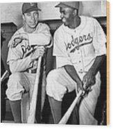 Brooklyn Dodgers Pee Wee Reese And Wood Print