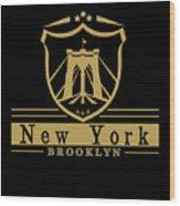 Brooklyn New York Bridge Pride Icon Wood Print