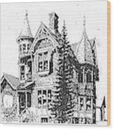 Brooks Hotel, Corvallis, Montana Wood Print