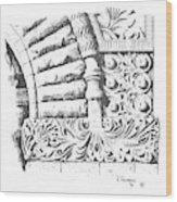 Brownstone Detail, Court House, Helena, Montana. Wood Print