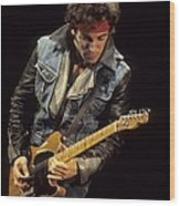 Bruce Springsteen Performs Live Wood Print