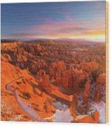 Bryce Canyon National Park At Sunset Wood Print