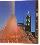 Buckingham Fountain, Chicago Wood Print