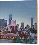 Buckingham Fountain - Panorama Wood Print