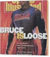 Buffalo Bills Bruce Smith, 1991 Nfl Football Preview Sports Illustrated Cover Wood Print