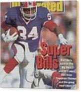 Buffalo Bills Thurman Thomas, 1992 Afc Championship Sports Illustrated Cover Wood Print