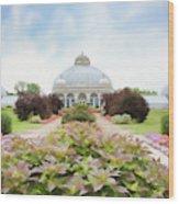 Buffalo Botanic Gardens Conservatory Wood Print