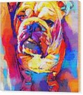 Bulldog 4 Wood Print