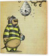 Bumblebear Wood Print