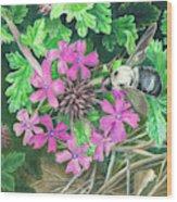 Bumblebee's Lunchtime Wood Print